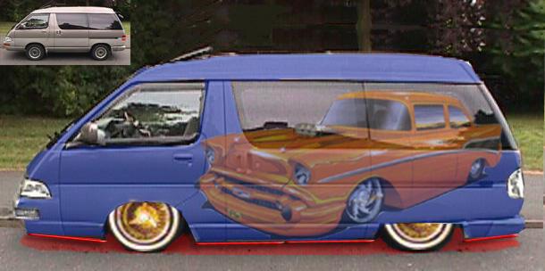 Lowrider Van By Hefdogg
