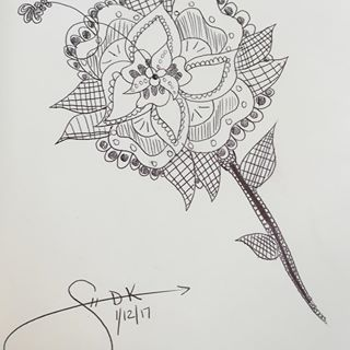 Simple Zentangle Flower Doodle by Sarah-The-Lion-Wolf on DeviantArt