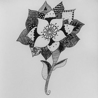 Zentangle Doodling by Sarah-The-Lion-Wolf