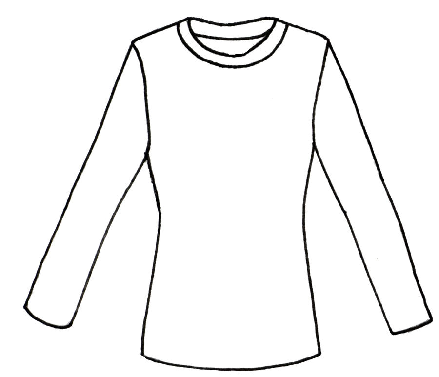 long sleeve shirt lines by morningglorymeadows on deviantart