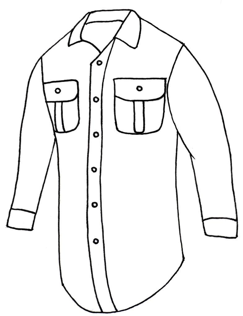 Button Down Shirt Drawing