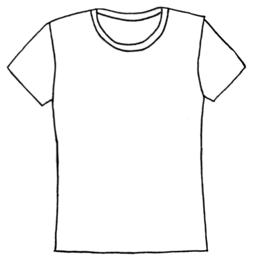Line Drawing Shirt : Plain tee shirt lines by morningglorymeadows on deviantart