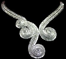 DiamondSwirlNecklace by Lokilanie