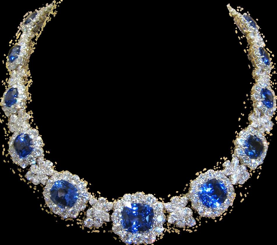 Sapphire Diamond Necklace by Lokilanie