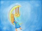 A Moon and Three Stars by taliatheotaku