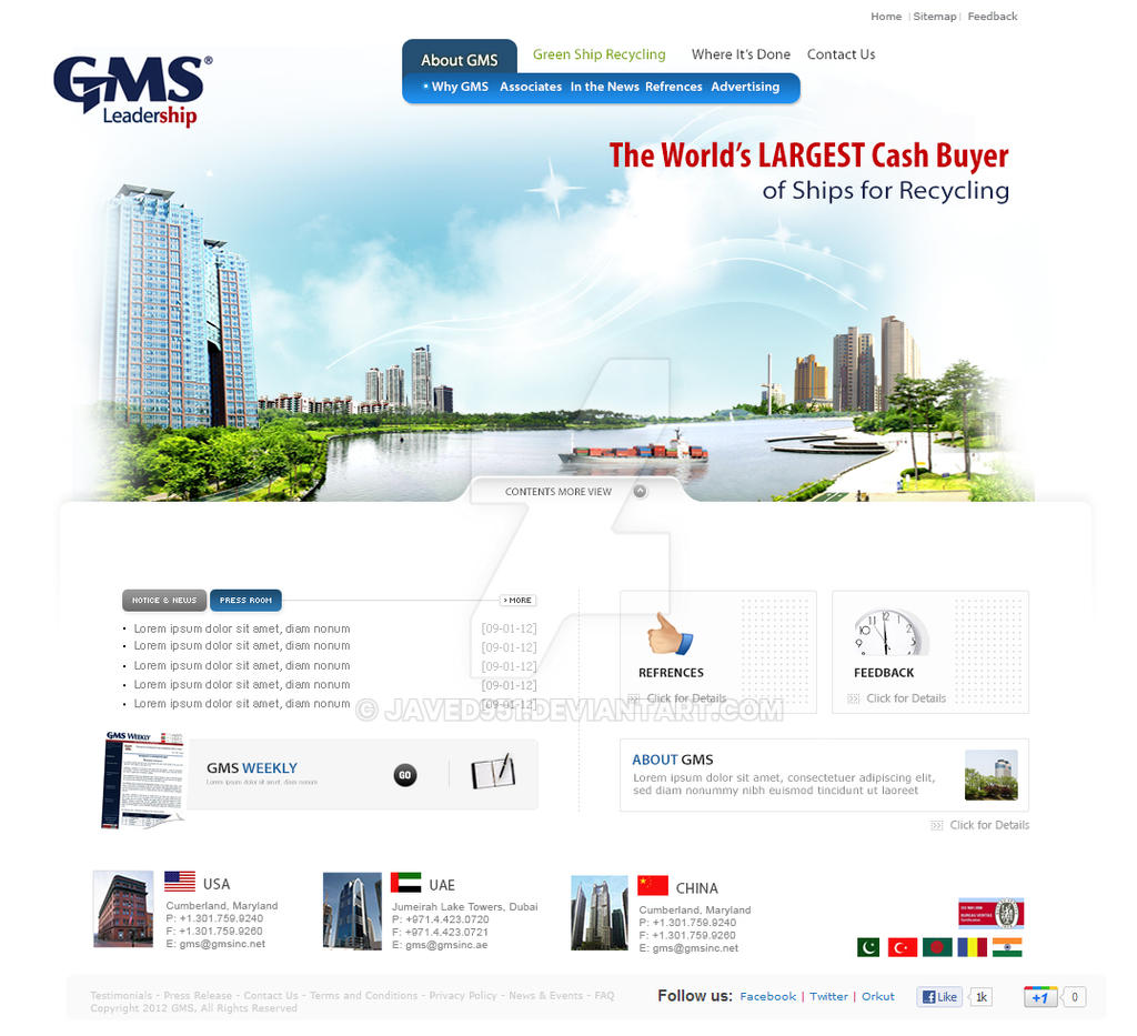 Homepage by Javed951