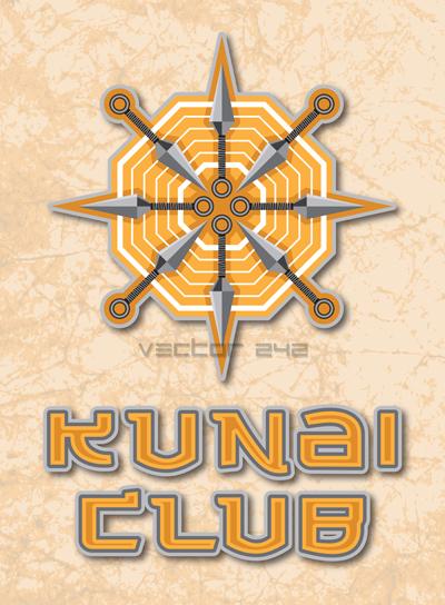 Kunai Club - Vector by craneo242