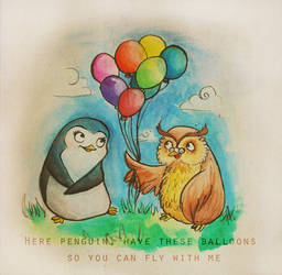Penguin and Owl.