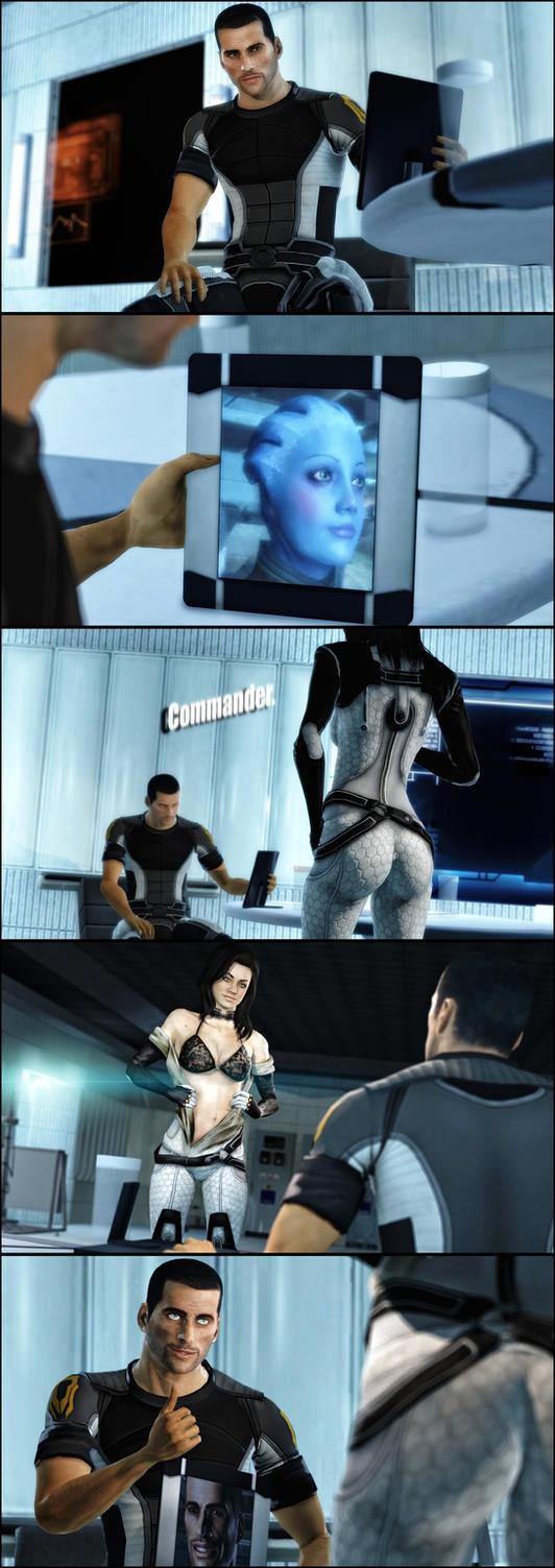 Shepard and Miranda by AngryRabbitGmoD