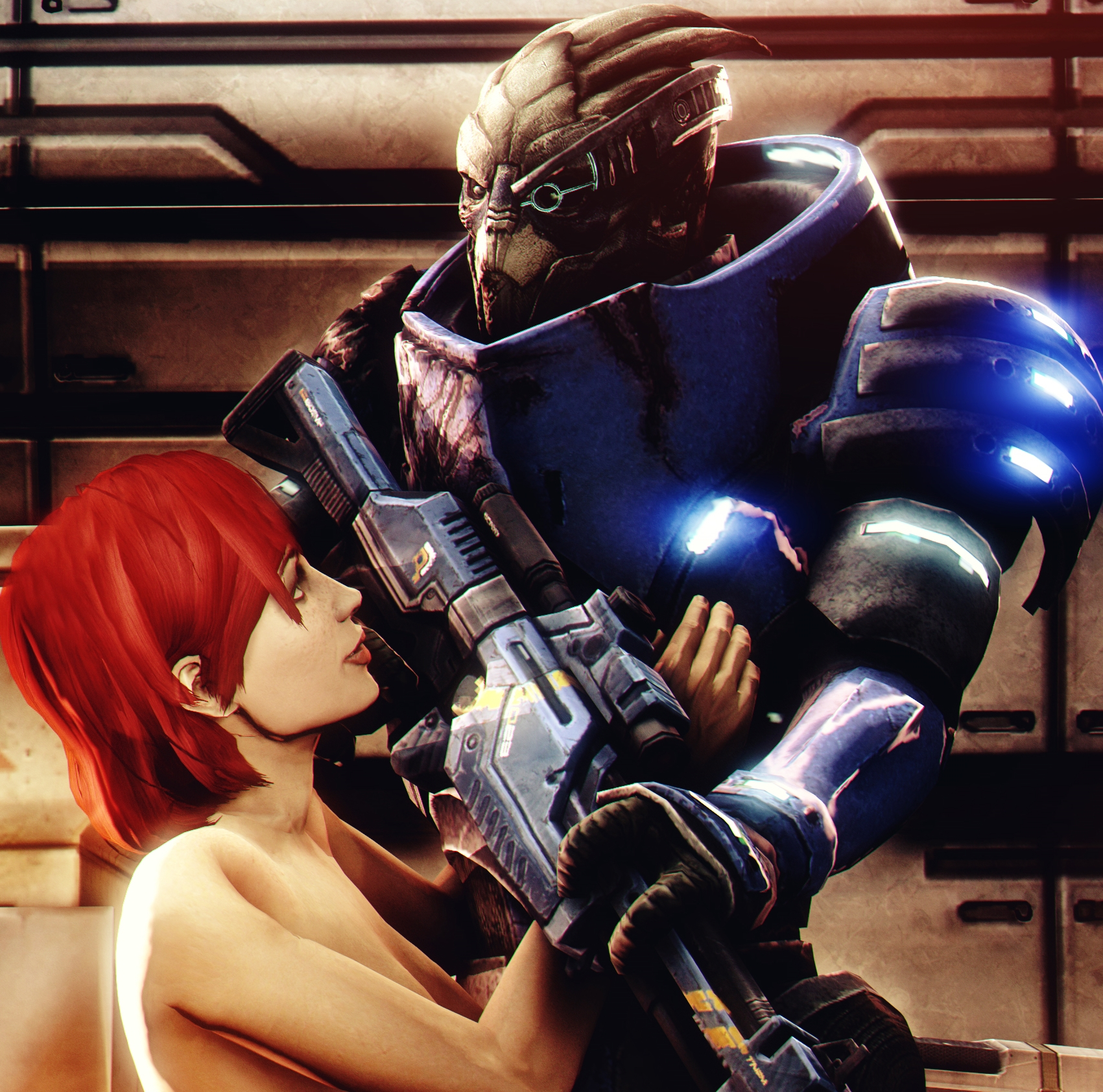 Girls love Garrus by AngryRabbitGmoD