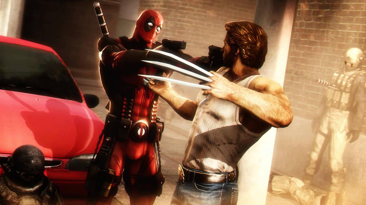 Deadpool vs Wolverine by AngryRabbitGmoD
