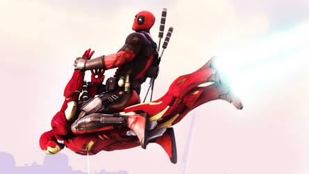 Deadpool vs Iron Man by AngryRabbitGmoD