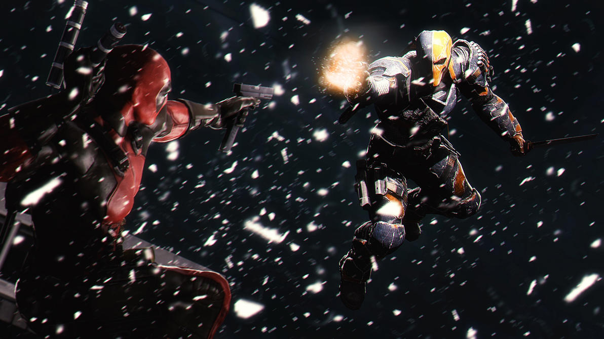 Deadpool vs Deathstroke by AngryRabbitGmoD
