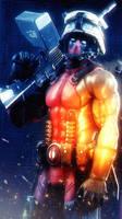 Deadpool on the battlefield by AngryRabbitGmoD
