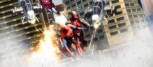 Deadpool save Spidey by AngryRabbitGmoD