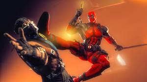 Deadpool vs Sub-Zero by AngryRabbitGmoD