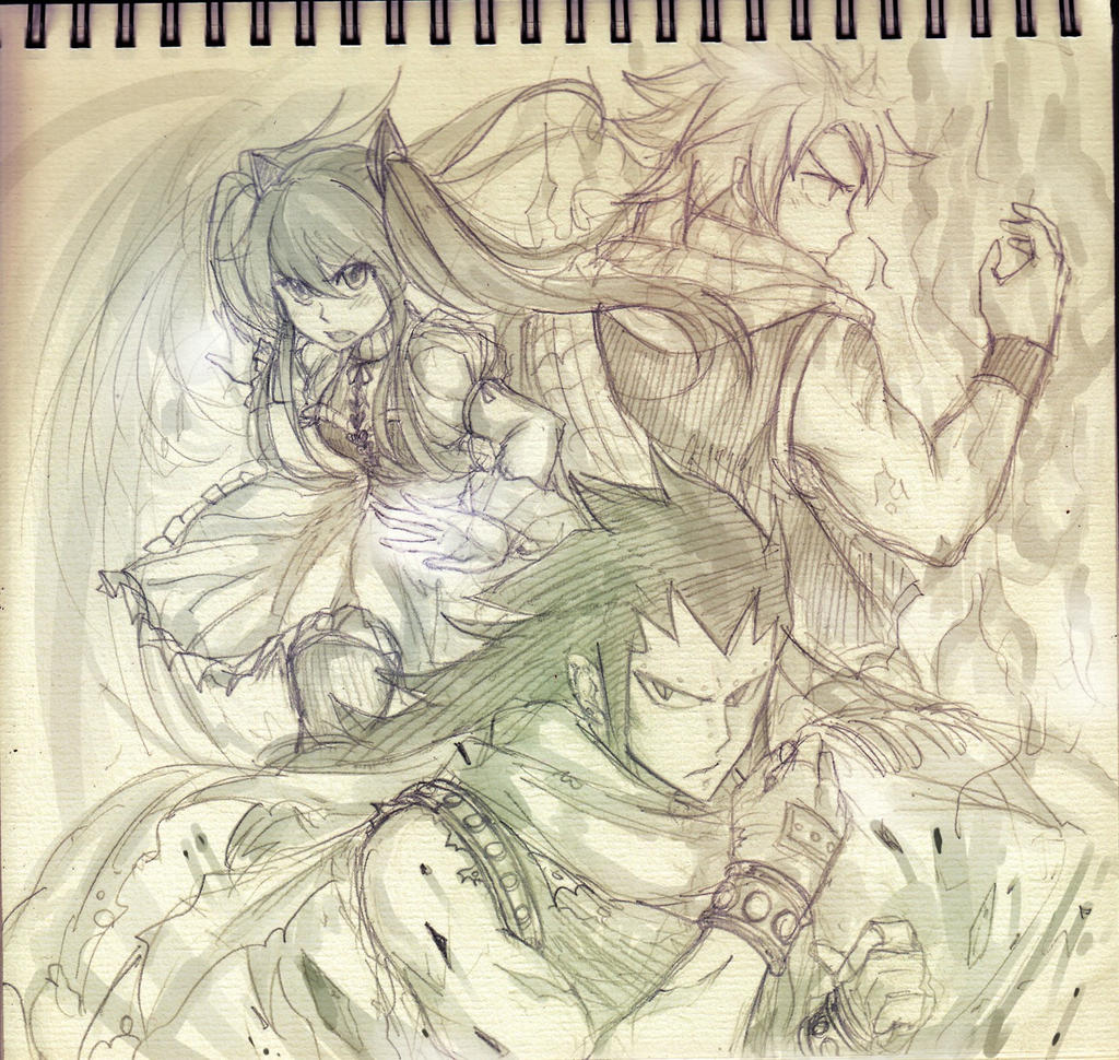 the dragon slayers of fairy tail by blanania on deviantart