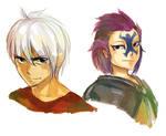 doodle - Genderbend Bixlow and Lisanna