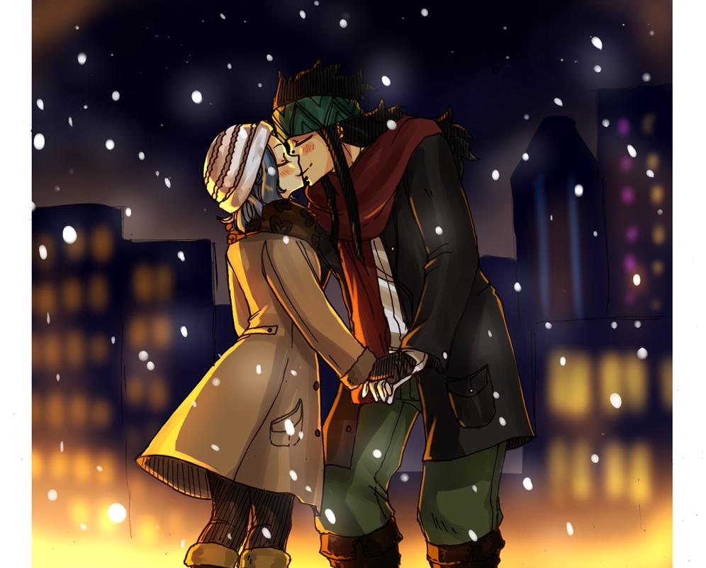 Christmas Kiss by blanania on DeviantArt