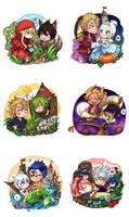 Fairy Tail x Fairy Tales (minor pairings)