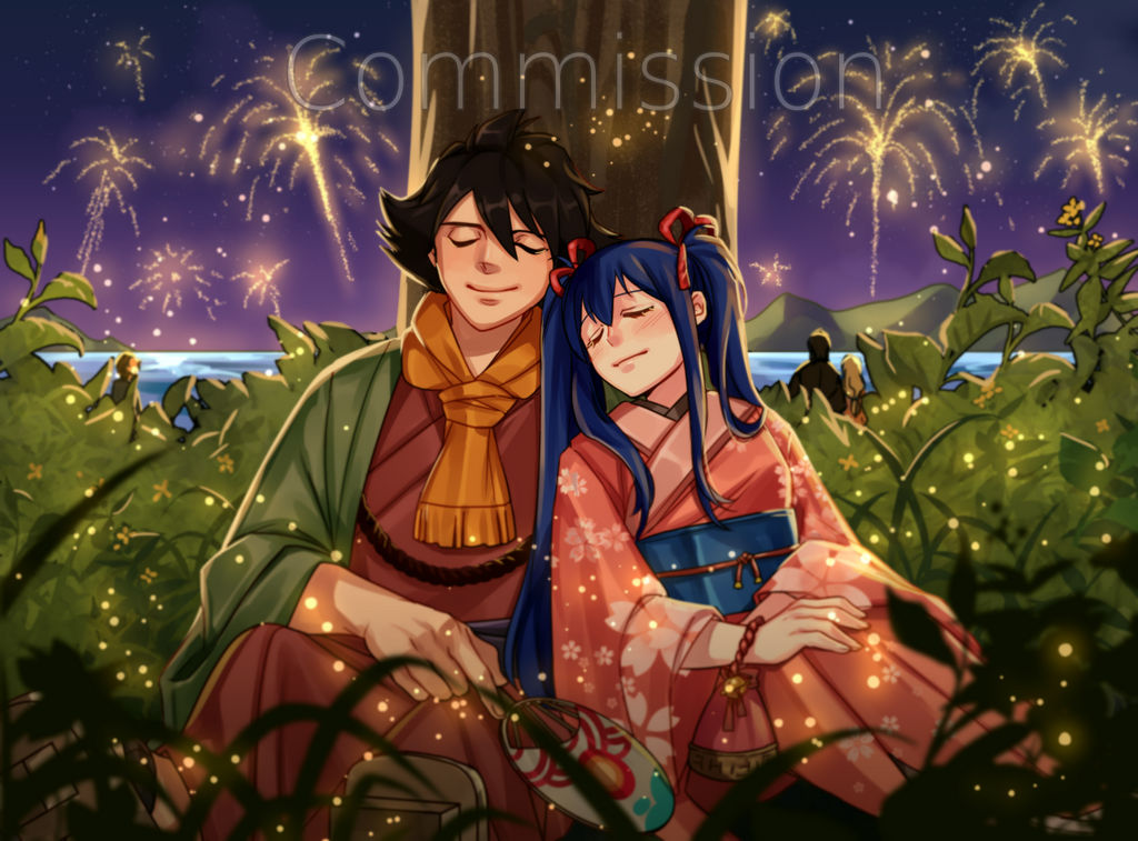 Commission: Wendy and Romeo Festival Night