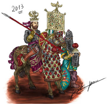 Khosrau II at battle