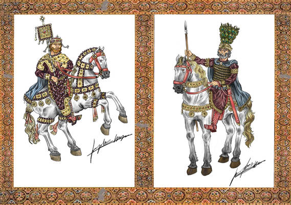 Imperial diptych: John Tzimiskes and Basil II