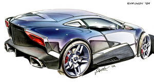 Concept car sketch 6 by Rykunov