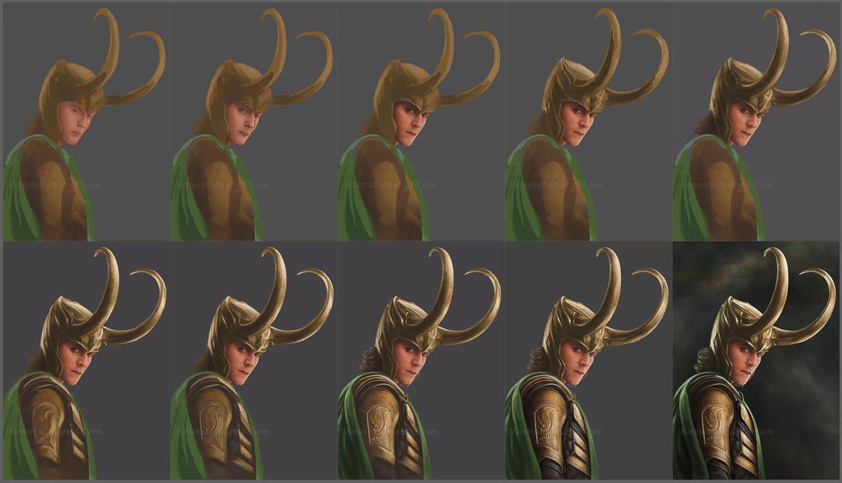 Loki step-by-step by marurenai