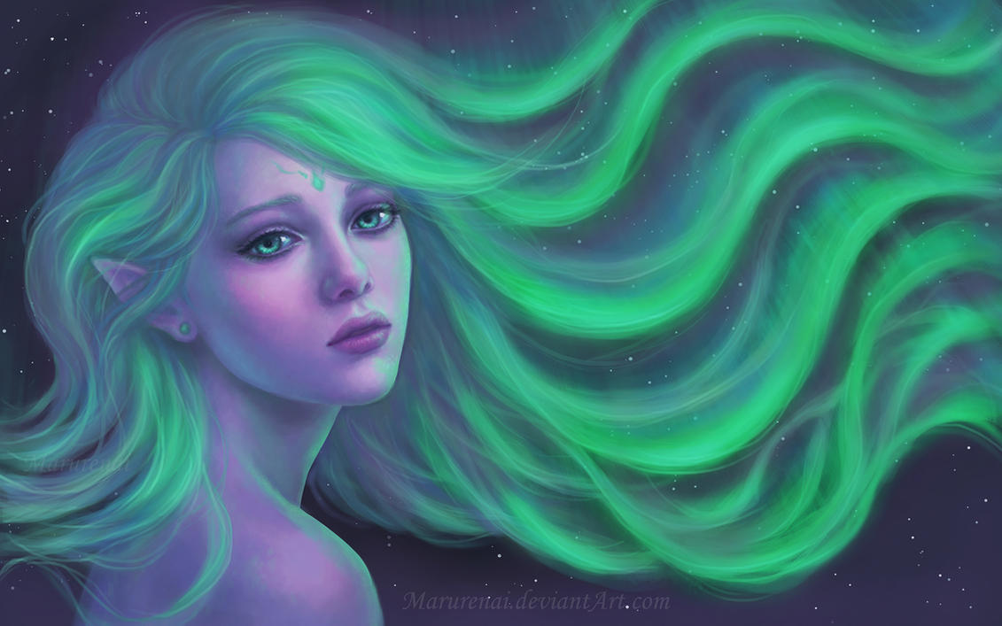 Aurora borealis by marurenai on deviantart