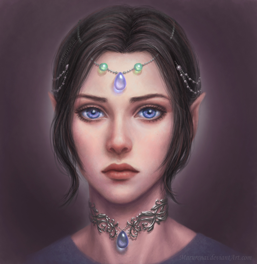 Elf girl portrait by marurenai
