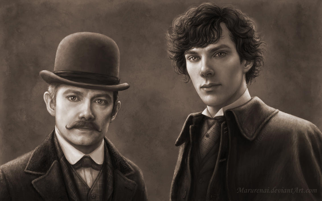 Holmes and Watson, Victorian era by marurenai