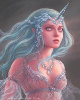 Winter unicorn girl