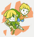 Toonlink and Lucas