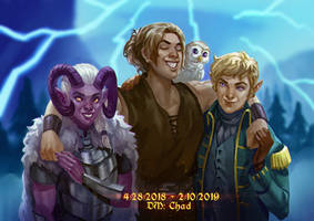 Commission- Dungeons and Dragons Group by frankhorlw