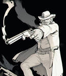Commission- Arthur Cowboy Warlock