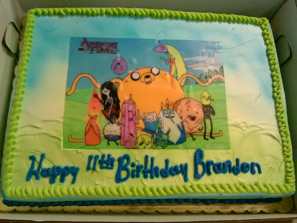 adventure time birthday cake by supernaturalspirit15 on deviantart