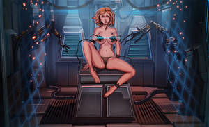 Cyberpunk pin-up