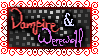 Vampire and Werewolf Stamp by Midnyte-Wolff