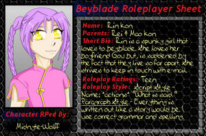 Beyblade Roleplayer Sheet - Rin Kon by Twisted--Princess
