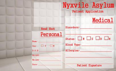 Nyxvile Asylum Patient Application by TwistedWytch