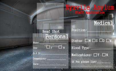 Nyxvile Asylum Staff Application by TwistedWytch
