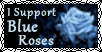 I Support Blue Roses Stamp by GrimNoxPrincess