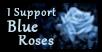 I Support Blue Roses Stamp