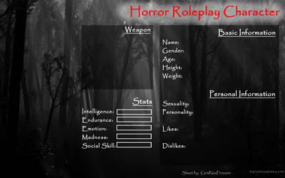 Freelance Horror OC Reference Sheet by TwistedWytch