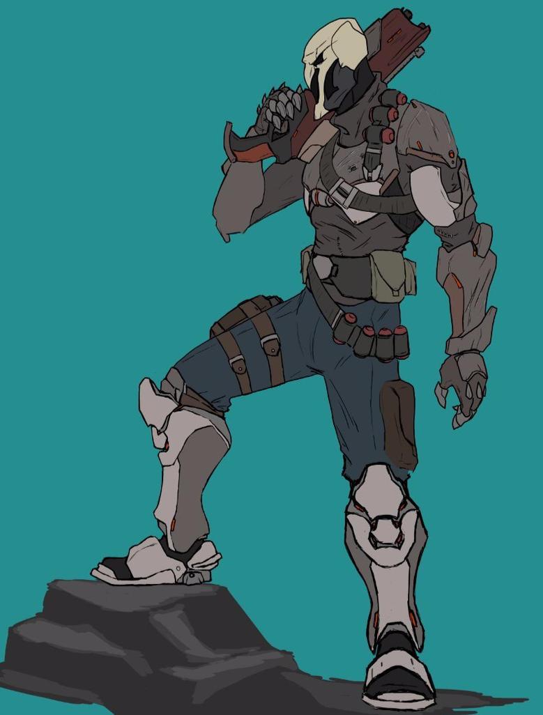 [Work in Progress] Post-Overwatch Reyes aka Reaper by AlexZebol