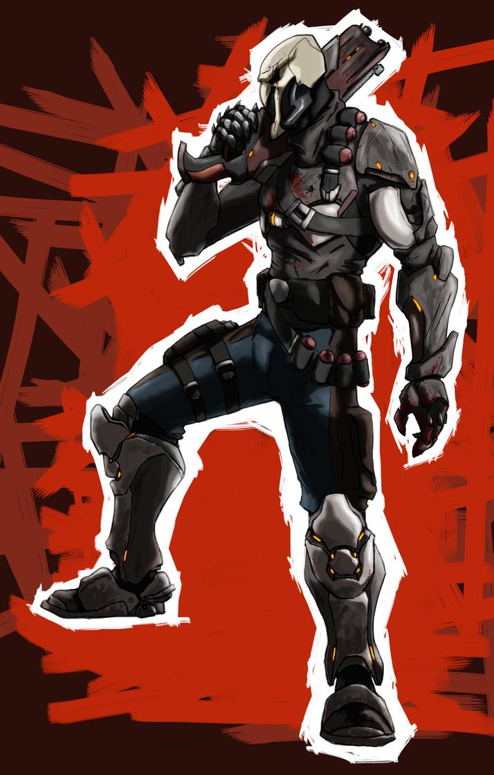 Gabriel Reyes aka Reaper by AlexZebol