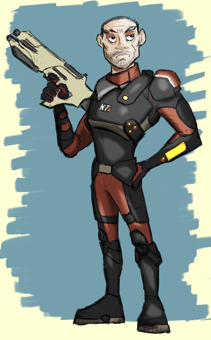 [Mass effect Andromeda] My sketch of Alec Ryder by AlexZebol