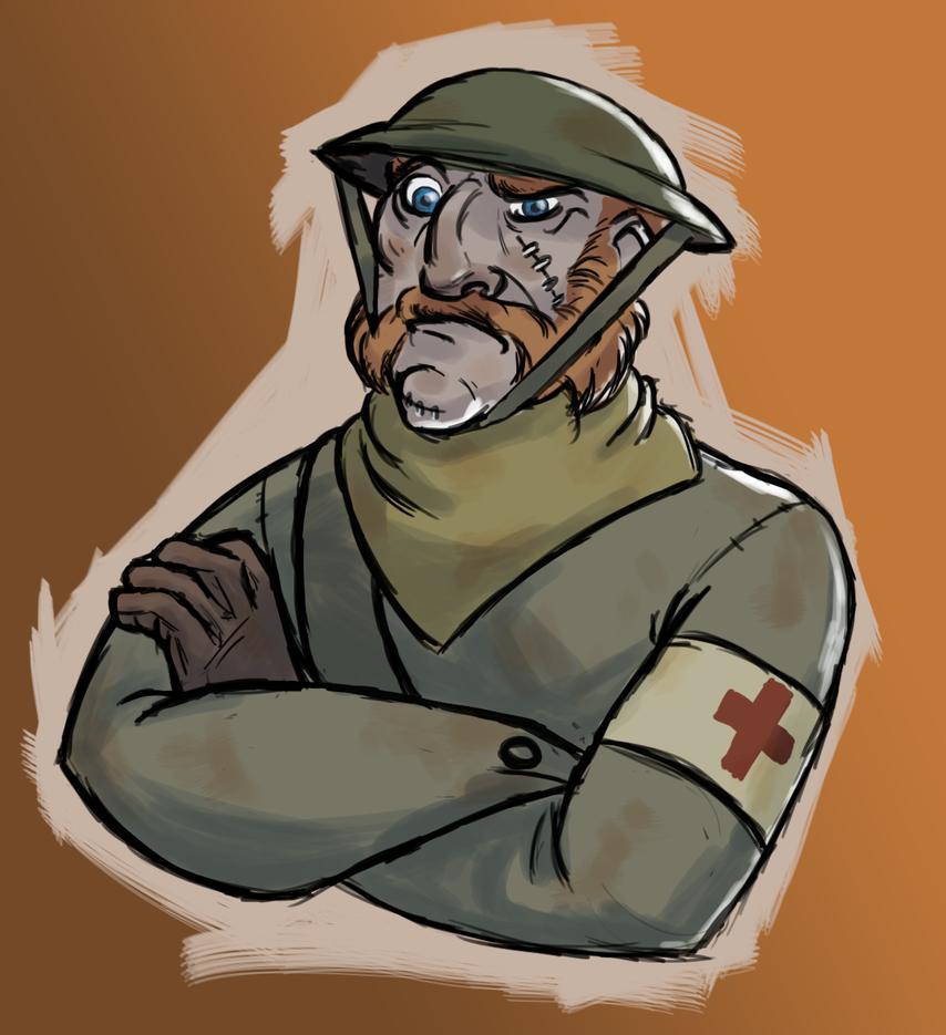 Grumpy British medic by AlexZebol