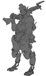 [Sketch] Jakobs enforcer by AlexZebol